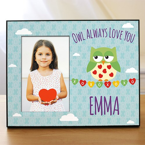 Personalized Owl Always Love You Kids Photo Frame 499976