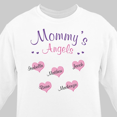 Angels of My Heart Personalized Sweatshirt