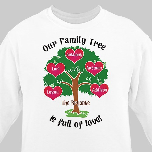 Our Family Tree Personalized Sweatshirt