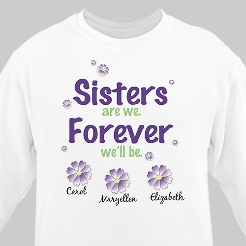 Sisters Forever Personalized Sweatshirt