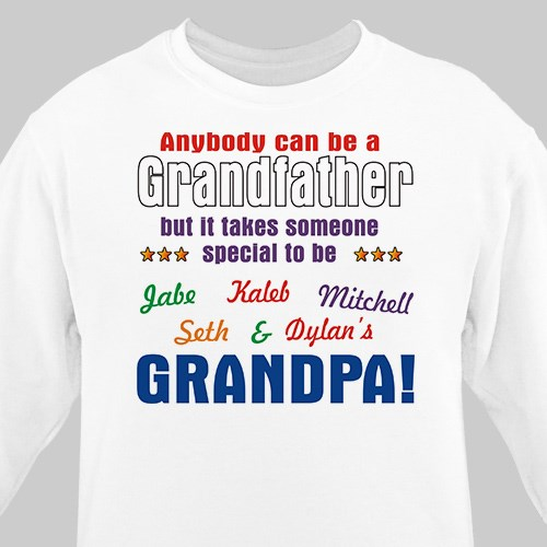 Custom Printed Grandfather Shirt for Fathers Day