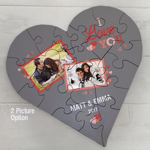 Personalized I Love You Photo Heart Puzzle 672992