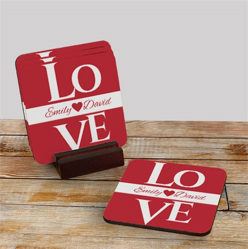 Love Personalized Coasters 698199CS
