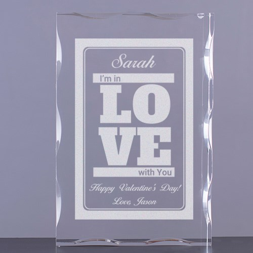 Engraved I'm in Love with You Acrylic Block 7100631