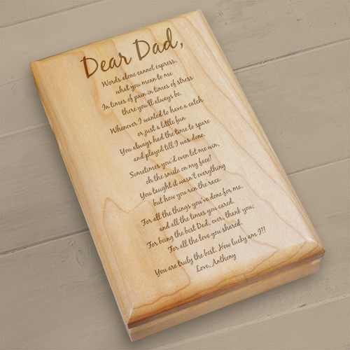 Personalized Father's Day Valet Box