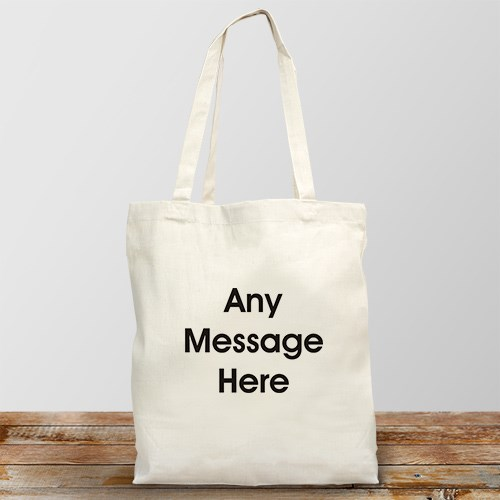 Block Message  Personalized Canvas Tote Bag