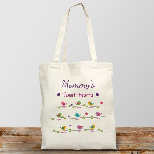 Personalized Tweet-Hearts Tote Bag 8101542