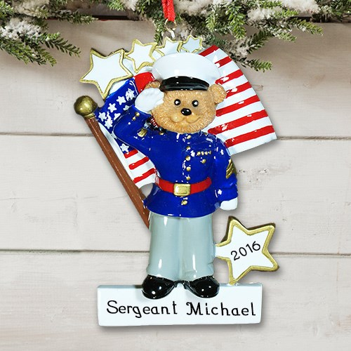 Personalized U.S. Marines Christmas Ornament