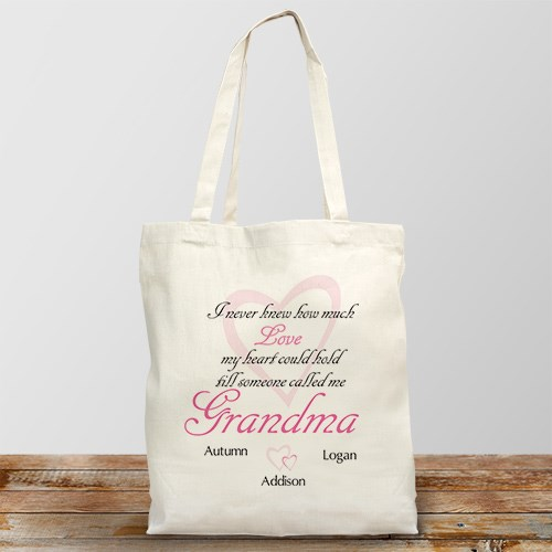 How Much Love Personalized Canvas Tote Bag