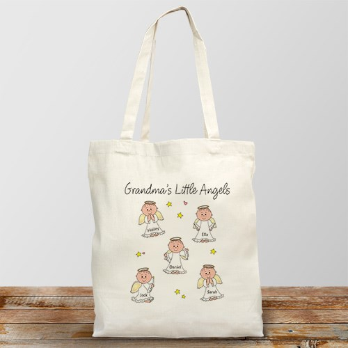 Little Angels Canvas Personalized Tote Bag | Personalizable Totes