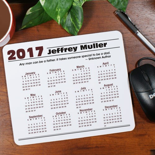 Personalized Quotation Calendar Mouse Pad 828129