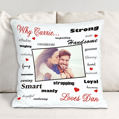 Personalized Why I Love You Throw Pillow 83062583