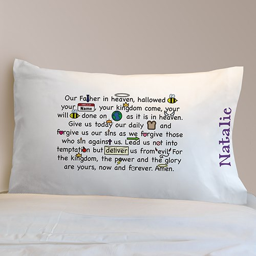 Personalized Our Father Prayer Pillowcase 83063340