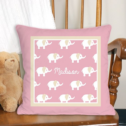 Personalized Baby Elephant Throw Pillow 83096013X