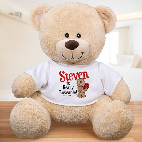 Personalized Beary Loveable Teddy Bear | Valentine Day Teddy Bears