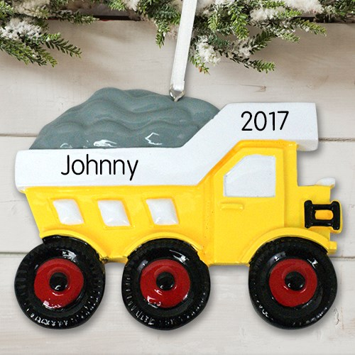 Personalized Dump Truck Ornament | | Personalized Christmas Ornaments For Kids