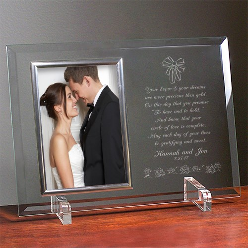To Have and To Hold Beveled Glass Picture Frame