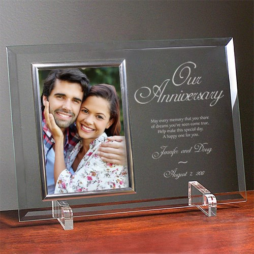 Our Anniversary Personalized Beveled Glass Frame 8530078