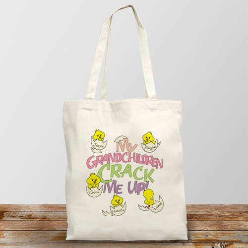 Crack Me Up Personalized Canvas Tote Bag