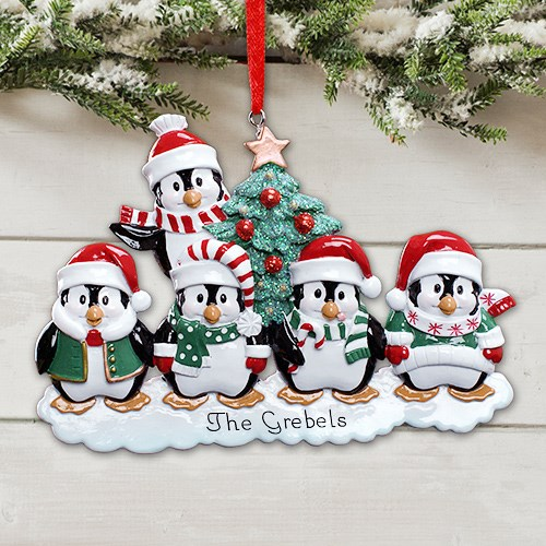 Personalized Penguin Family Ornament 879253X
