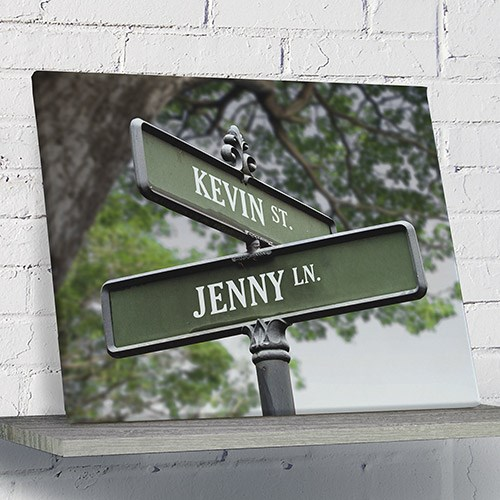 Personalized Love Street Canvas 91100526