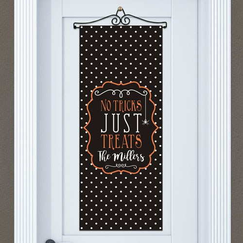 Personalized Family Trick or Treat Door Banner 911060615