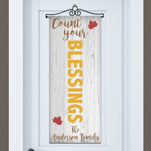 Personalized Count Your Blessings Door Banner 911061615