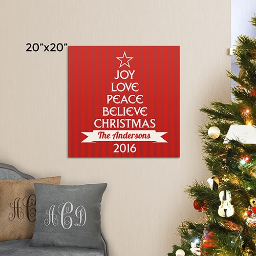 Personalized Christmas Tree from Words Canvas 91108974X