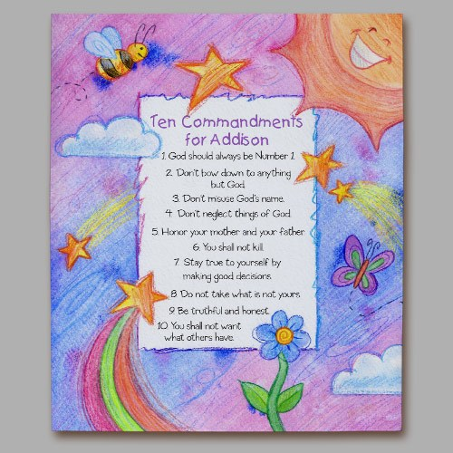 Personalized 10 Commandments Wall Canvas 914179x