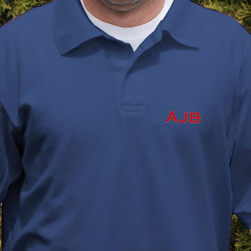 My Initials Personalized Polo Shirt