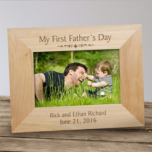 Personalized First Father's Day Picture Frame