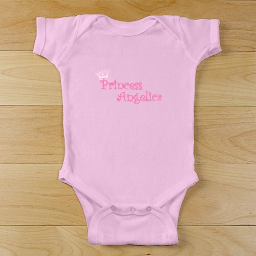 Personalized Princess Infant Creeper | Baby Gifts for Girls