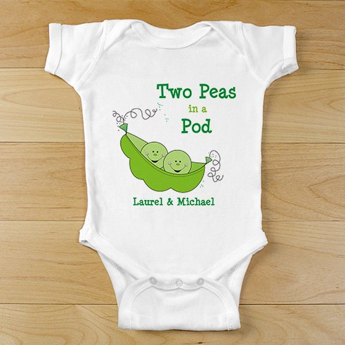 Two Peas in Pod Twin Infant Creeper