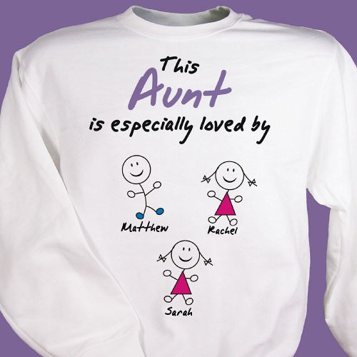 Especially Loved By Personalized Aunt Sweatshirt