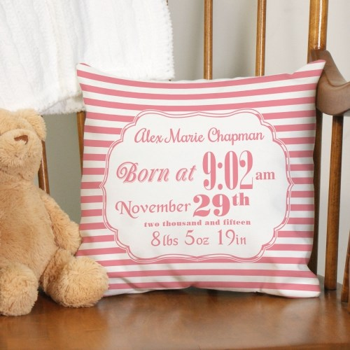 Personalized Birth Announcement Throw Pillow 83095923X