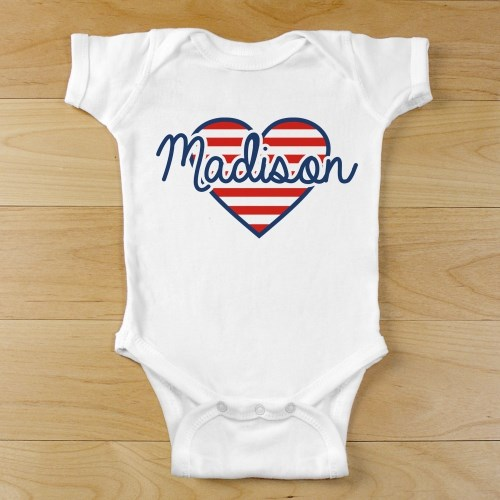 Patriotic Heart Infant Creeper 939522X