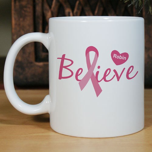 Personalized Breast Cancer Awareness Coffee Mug