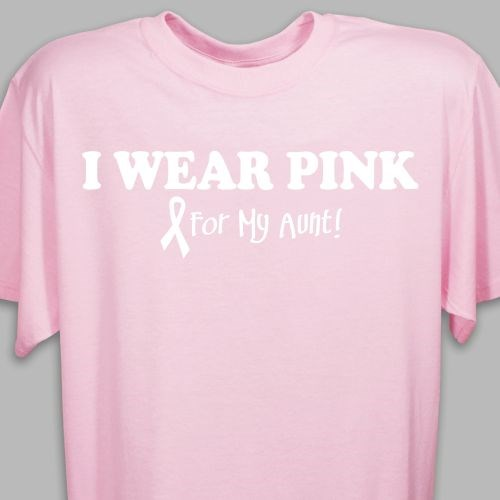 I Wear Pink - Breast Cancer Awareness Personalized T-shirt