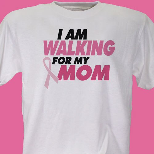 Personalized breast cancer walk t shirt breast cancer for Breast cancer shirts ideas