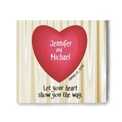Let Your Heart Show You The Way Personalized Wall Canvas