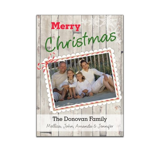 Rustic Christmas Photo Greeting Cards 1972310