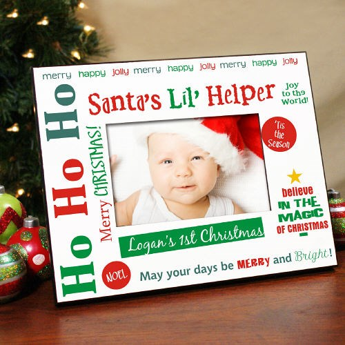 Personalized Santa Helper Picture Frame