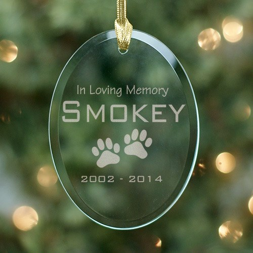 Pet Memorial Glass Ornament 855374