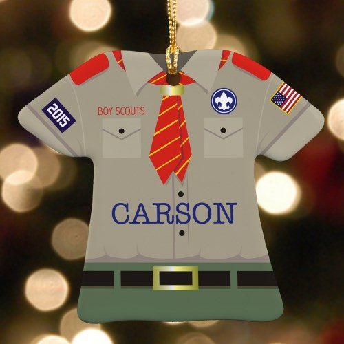 Personalized Ceramic Boy Scout Ornament U688263