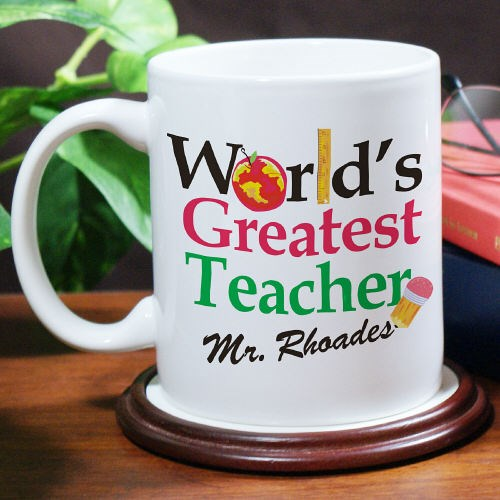 Personalized Worlds Greatest Teacher Mug