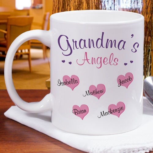 Personalized Angels Coffee Mug for Mom or Grandma