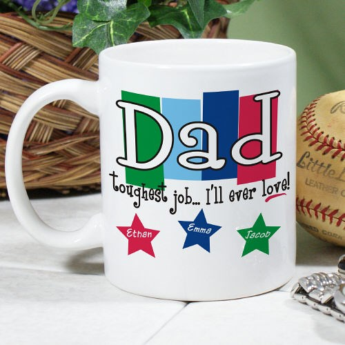 Personalized Dad Coffee Mugs