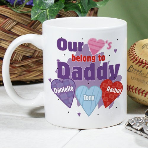 Personalized Family Heart Coffee Mug