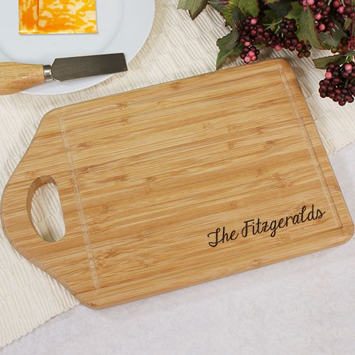Engraved Bamboo Cheese Carving Board L621230