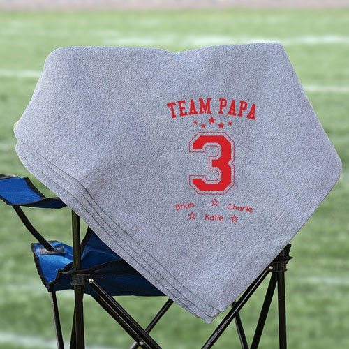 Personalized Team Dad Fleece Blanket | Fathers Day Gifts